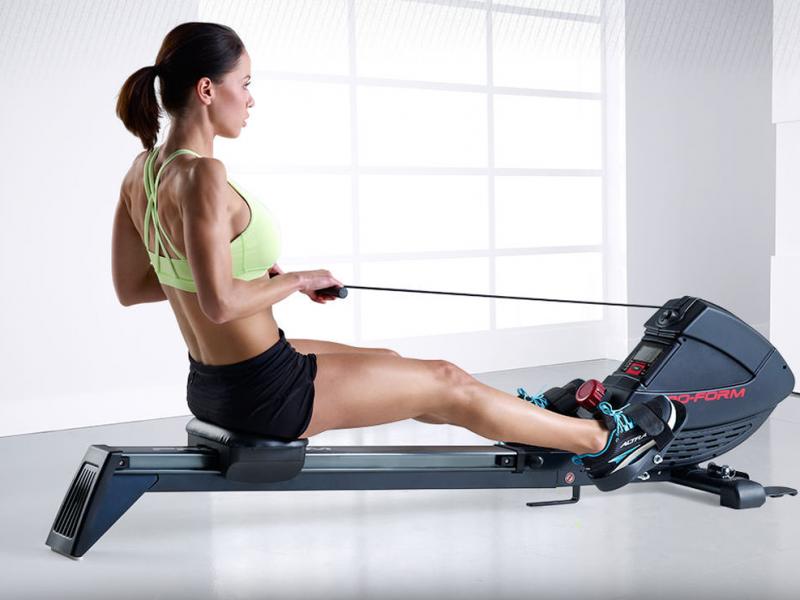 Exercices avec rameur